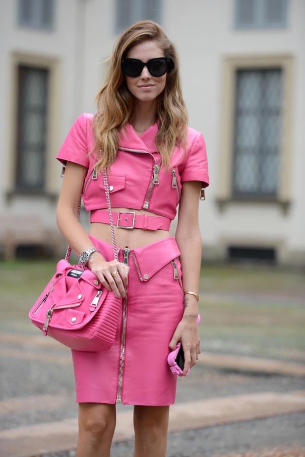 ferragni total pink